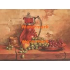 Still Life With Grapes  - XBSL411  -  PRINT