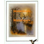 Ducks In Flight  - #XBBI-828  -  PRINT