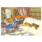 The Upstairs Downstairs Bears  - #XM848  -  PRINT