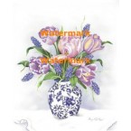 Tulips & Grape Hyacinth  - #XM9602  -  PRINT