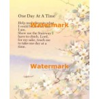 1.  One Day At A Time  - #XS11021  -  PRINT
