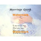 Marriage Creed  - XS9462  -  PRINT